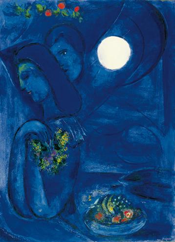 uomo e donna | la parola cresceva Chagall Ferrat