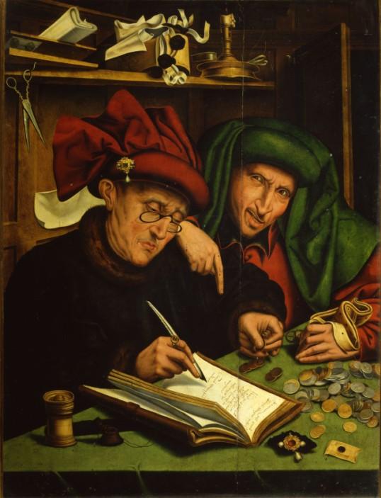 3-4-da-marinus-van-reymerswaele gli usurai 1540