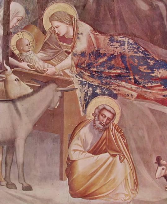 20 Giotto - La Natività e l'annuncio ai pastori