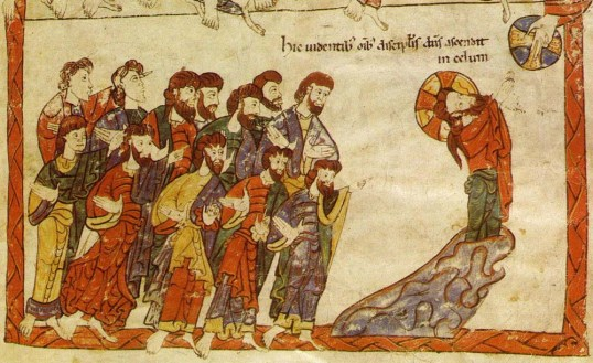 Ascensione-1150ca-Bibbia Di Avila  Madrid Bibl. Nac.