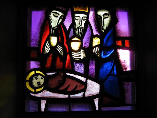 Vitrail dans l'Église de la Réconciliation, Taizé