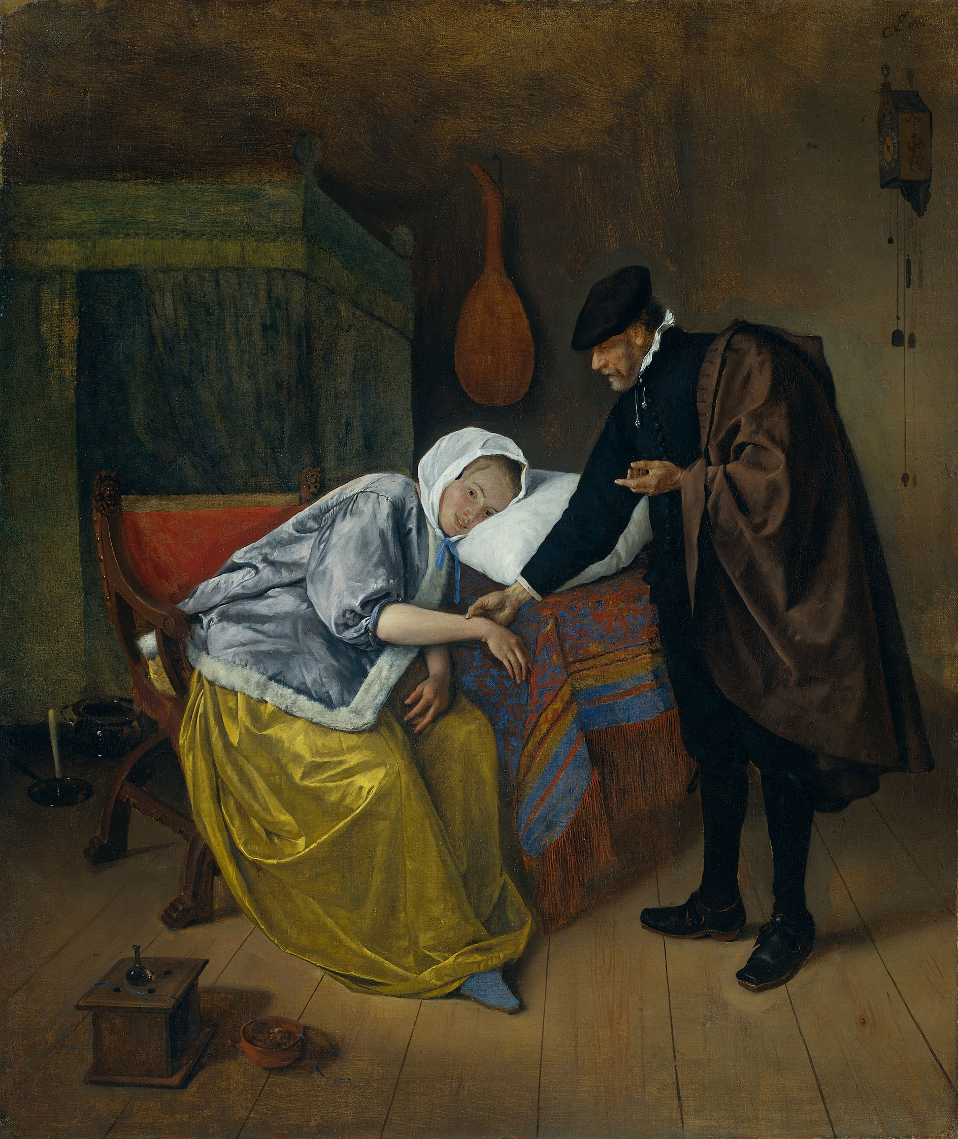SteenThe sick woman 1663-1666 Doctor_and_His_Patient-1.jpg