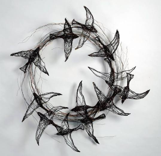 Celia Smith -- Bird-Sculptures-made-from-Wire.jpg