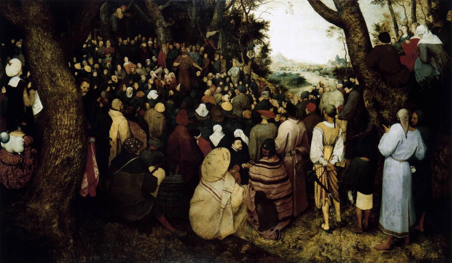 Pieter Bruegel il vecchio predica di san Giovanni Battista 1566 Museo delle Belle arti Budapest
