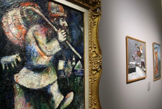 Marc Chagall L'ebreo errante 1923-25 olio su tela Musée du Petit Palais Ginevra