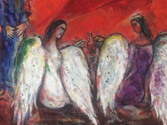 Abramo tre angeli part. Chagall Nizza