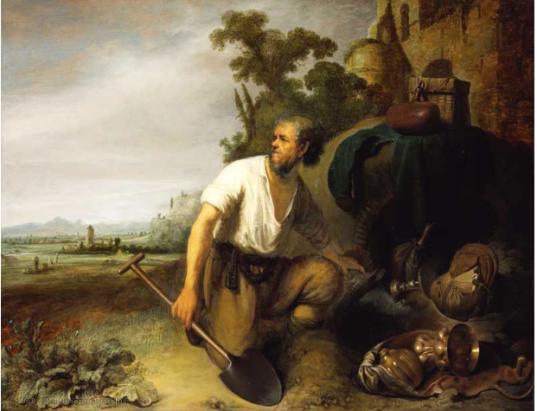 parabola del tesoro nel campo